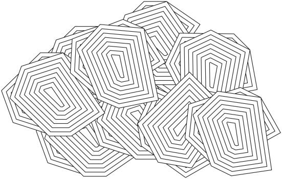 carte de visite 5 motifs aglutines